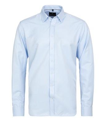 5b5cbcf1d Koszula Męska Blue Elegancka Stójka Kratka NOWOŚĆ - 7265901283 ...