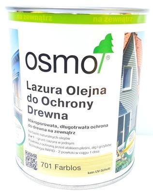 OSMO 701 Lazur Olej 0.75 l Bezfarebný Matt