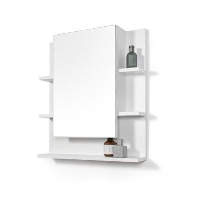 белая шкаф ? зеркалом зеркало для ванной комнаты с полками