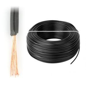 Drôt, kábel LGY 1x4 kábel ČIERNY 50 MB. 1478