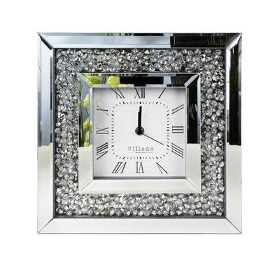 часы на стену кристалл гламур серебро тихий