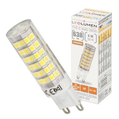 Лампа мини T15 G9 6W=50W LED SMD 638lm LEDLUMEN