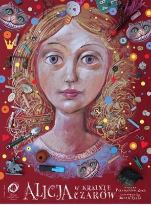 Лешек Жебровский Алиса в стране чудес - плакат