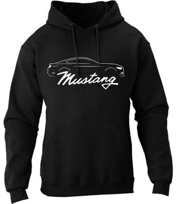 Bluza z kapturem MUSTANG V8 GT ford muscle car M