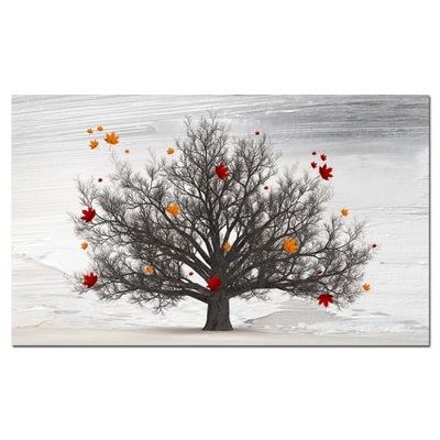Изображение Дерево 49 - 120x70cm листья клона на стену
