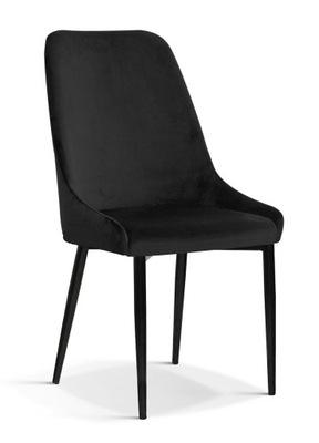 Krzesło OLIVIER - CZARNY - nogi czarne do jadalni