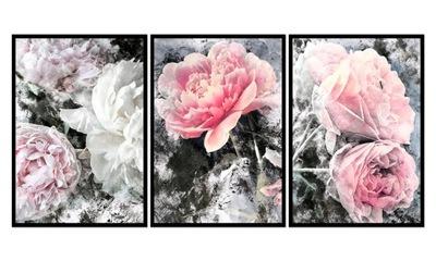Изображение в плечо цветы 9R - 84x40cm Пионы розочки