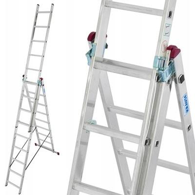 Краузе лестница алюминиевая CORDA 3x9 6 ,20м 030399
