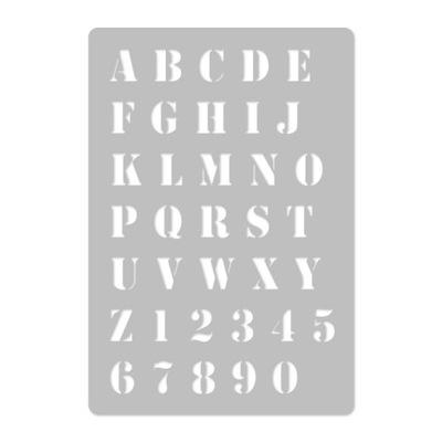 шаблон малярный многократной // 45x65cm // Буквы