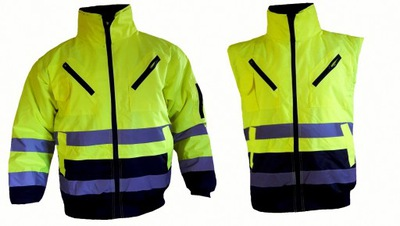 куртка рабочая светоотражающая предупреждения 3 в 1 ТРУДА L