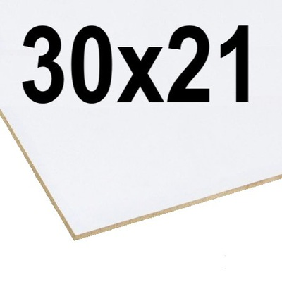 плита HDF 3mm белая 2STR. Формат A4 210 x 297