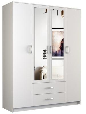 шкаф ROMANA двери зеркало 2 ящик 160СМ белая
