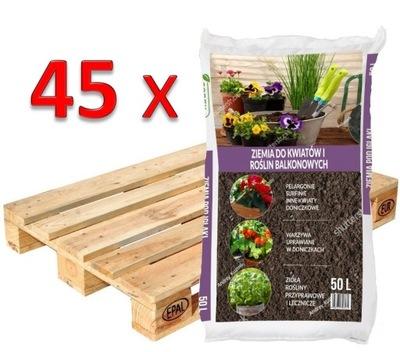 45x Zeme na kvety a balkónové rastliny 50L HEATH