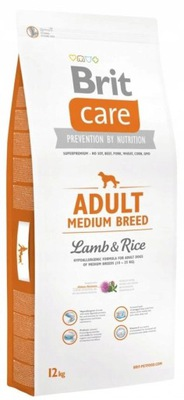 Brit CARE Adult медиум Breed - Lamb &Rice 12кг