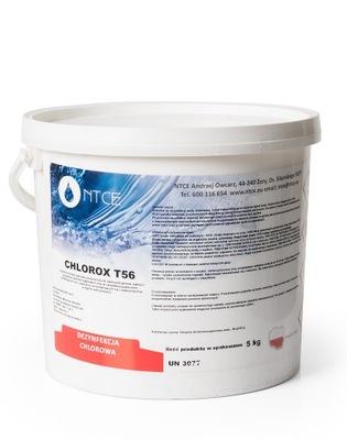 CHLÓR ŠOK bazéne Chemikálie CHLOROX T56 NTCE 5 kg
