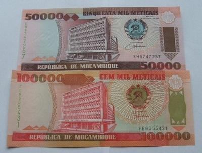 ZESTAW BANKNOTÓW MOZAMBIK - Z PACZKI BANKOWEJ
