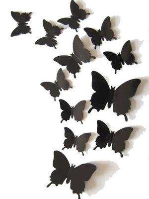 бабочки бабочки 3D НА СТЕНУ наклейки 36PCS+Монтаж