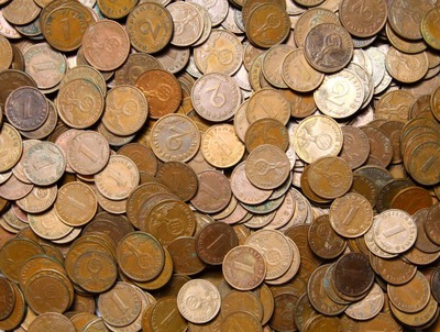 III Рейх Монеты 1 и 2 Pfennig - бронза - 100 штук
