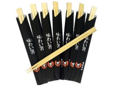 Палочки для еды бамбуковые в конверте 100 пар