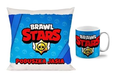 комплект ЧАШКА + подушка 40х40 BRAWL STARS В.1