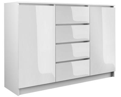 КОМОД 2D4S 120СМ белый блеск двери ящик Салон