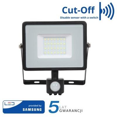 Naświetlacz LED Czujnik ruchu 50W 4000K Samsung