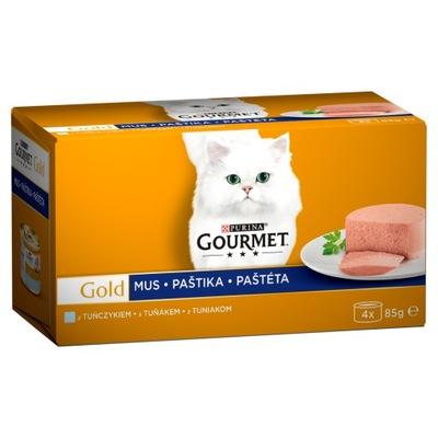 Purina Gourmet GOLD мусс с тунцом 4x85g