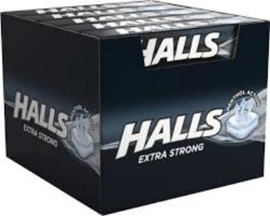 КОНФЕТЫ HALLS  STRONG черные 33 ,5g x 20 штук