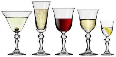 Poháre na víno, vodka šampanské KROSNA Krista 30