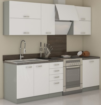 Мебель Кухонные шкафы Кухонные Белый блеск Blanka