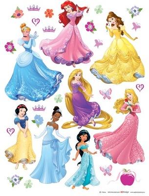 Nálepky na stenu Princess Disney 85x65 AG Design