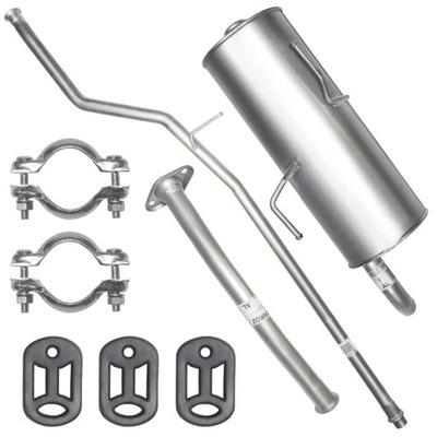 КОМПЛЕКТ Глушитель Выхлоп Труба Peugeot 206 1.1 1.4