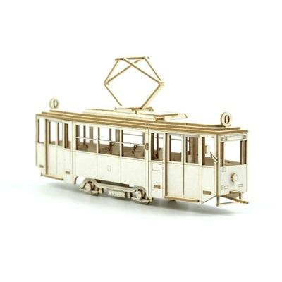 Модель из картона - Трамвай KONSTAL 4N масштаб 1 :87 H0