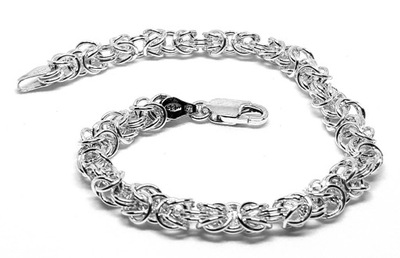 Bransoletka srebrna Ag 925 splot królewski 20cm