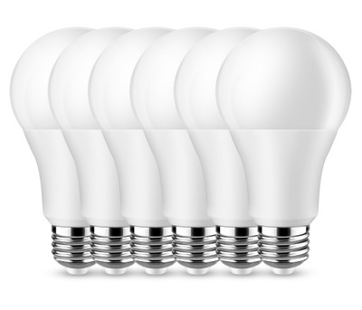 комплект 6x Лампа LED E27 10 Цвет тепла