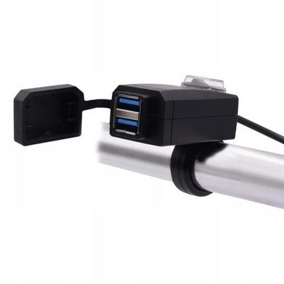 ЗАРЯДНОЕ устройство МОТОЦИКЛ 2x USB QC3.0 БЫСТРАЯ ЗАГРУЗКА, фото