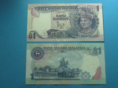 Малайзия Банкноты 1 Малайзийский P-27b 1989 UNC !!