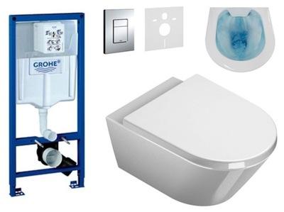 Set do kúpeľne a WC - TLAČIDLO GROHE GROOVE MISS WC SONET RIMLESS DESK