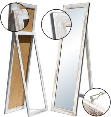 БОЛЬШИЕ зеркало в раме стоящие 180x70 белое Венге S