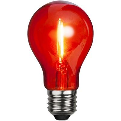 Лампа Декоративная LED E27 A60 FILAMENT красная