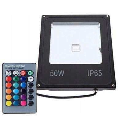 Reflektor 50W halogen RGB LED s pamäťou + diaľkové ovládanie