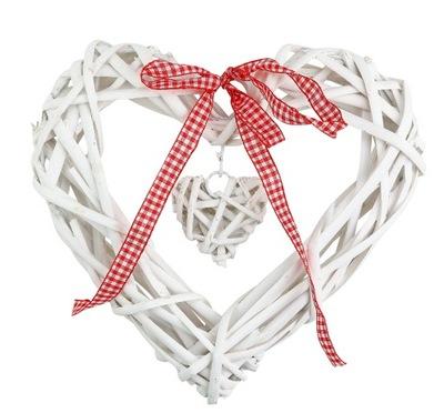 сердце ПЛЕТЕНОЙ белое 20 см КУЛОН instagram