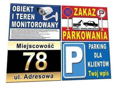 TABLA MONITORING ADRES DOM PARKING ZAKAZ ZNAK