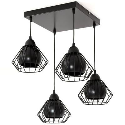 Luster stropné svietidlo 4 drôtu lampshades loft 3 v 1