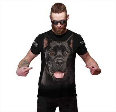 KOSZULKA FULL PRINT T-shirt PIES XL FITNESS YOGA