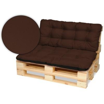Подушки на мебель из поддонов скамейка 120х80+120x50 бронза