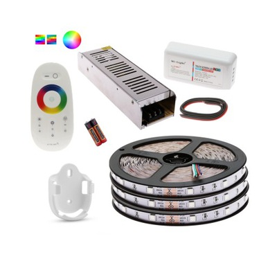Súprava RGB LED PÁSY 5050 15m diaľkové ovládanie TOUCH Náplň