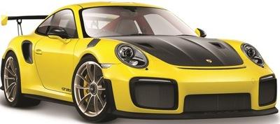 Порше 911 GT2 RS желтый 1 :24 модель Maisto 31523