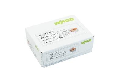 WAGO rýchly konektor 221-412 2x0,2-4 mm 100KS