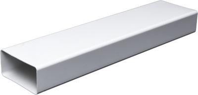 Вентиляционная труба плоский 55x110 -1 ,Ноль mb Белый АБС